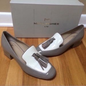 MARC FISHER Keisha Patent Leather Tassel Loafers
